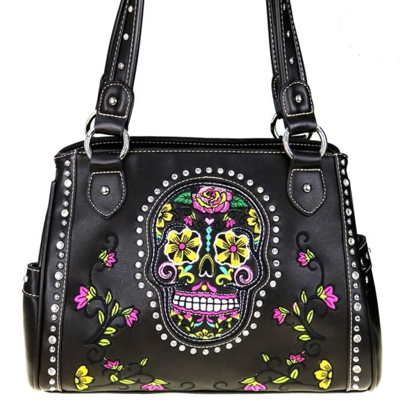 d00d23a65d Montana West Concealed Carry Sugar Skull Purse NWT